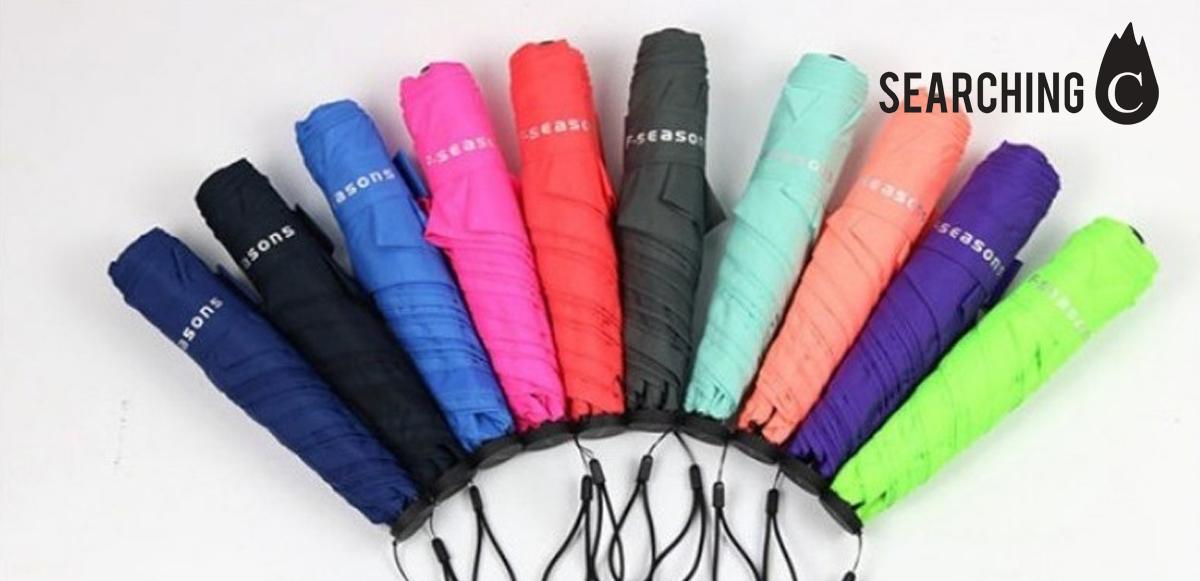【驚喜價】$141.6購買F-Seasons 潑水超輕108G碳纖羽毛 傘 (原價:$199)