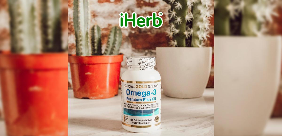 【iHerb】California Gold Nutrition Omega-3 優質 魚油 100粒裝