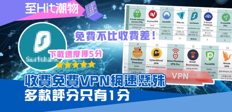 消委會|收費免費 VPN上下載速度懸殊 最低只有1分