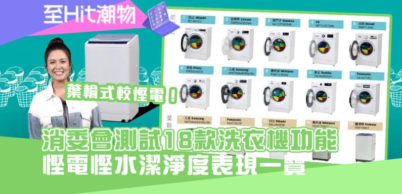 消委會| 洗衣機 型號大比併  難以同時慳電慳水