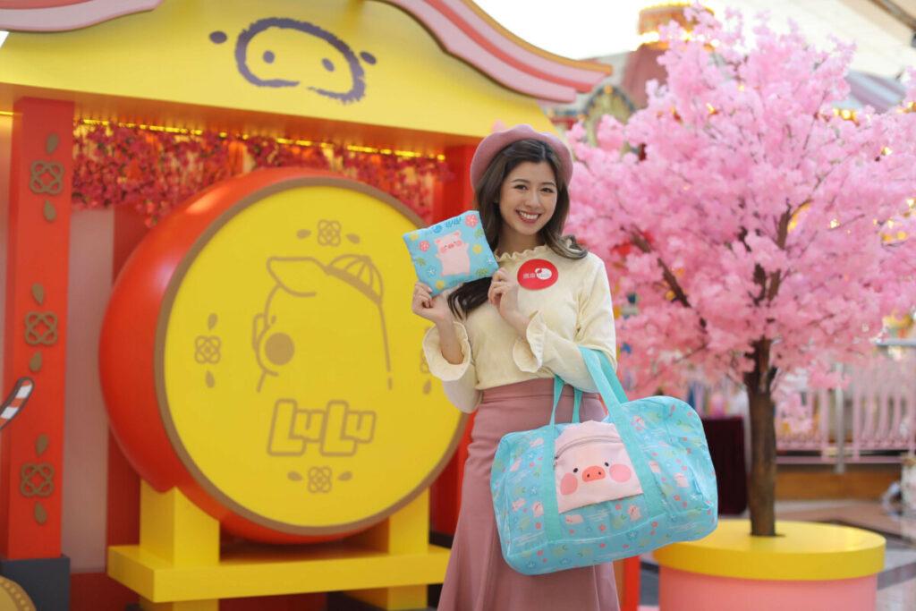 置富Malls 罐頭豬LULU 瀛春冧豬旅行豚 旅行袋