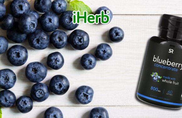 【iHerb】Sports Research, 藍莓 濃縮物,800 毫克,60 粒軟凝膠