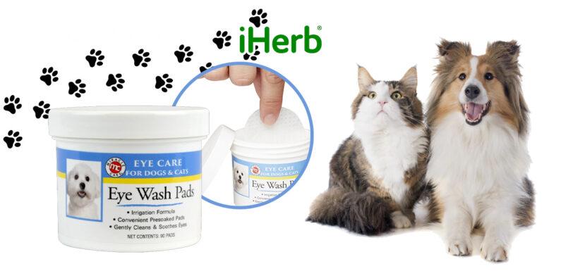 【iHerb】Miracle Care, 眼部護理, 眼部清洗 棉墊, 貓狗 專用,90片
